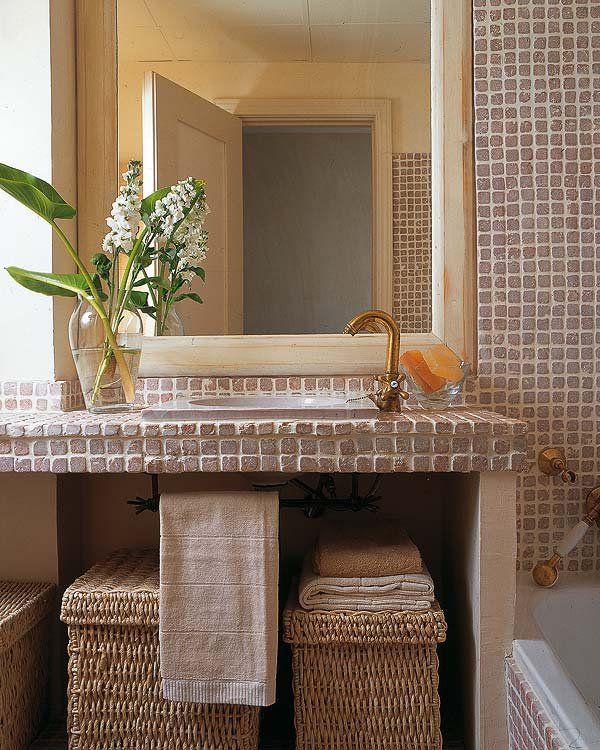 Nueve muebles de lavabo con espacio de almacén Pinterest Muebles - baos con mosaicos