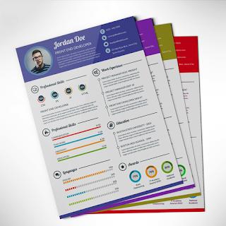 Professional Resume / CV Template Free PSD Resume design