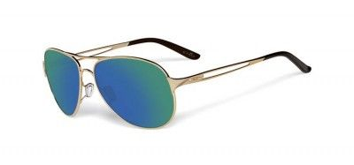 Óculos Oakley Women's Caveat Polished Gold Jade Iridium. #Óculos #Oakley