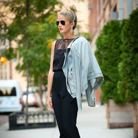 680ec3674df black jumpsuit   denim jacket