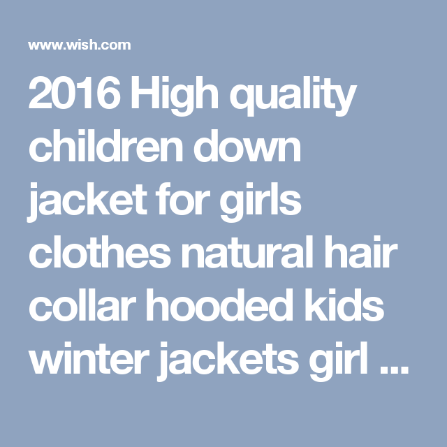 2016 High quality children down jacket for girls clothes natural hair collar hooded kids winter jackets girl winter coat Parkas  (37)