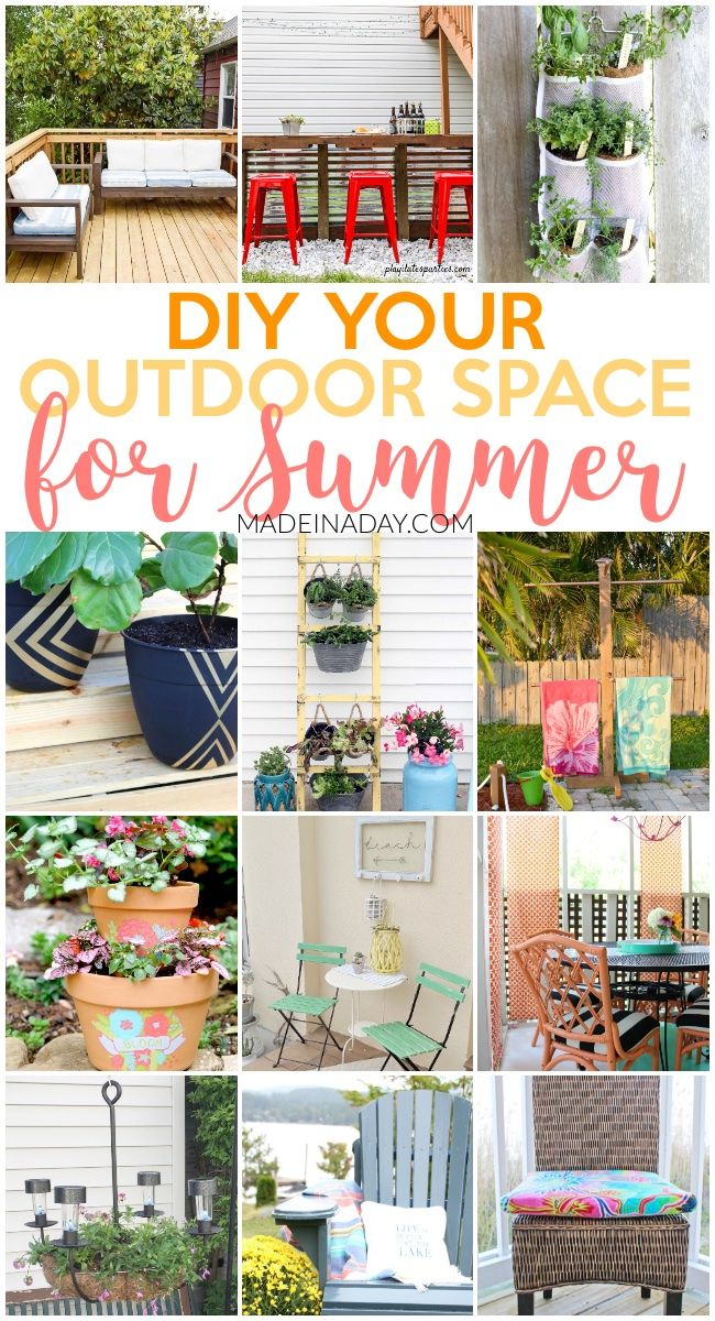 Amazing Projects To DIY Your Outdoor Space For Summer, DIY Patio Furniture,  Painted Planters, Her Gardens, DIY Towel Rack, Chandelier Planter, Peach  Rattan, ...