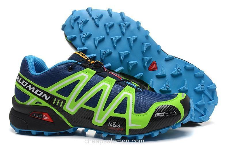 competitive price 178d2 b3a10 ... Z0016 Salomon Speedcross 3 CS Mens Trail Running Shoes Deep Blue Green  ...