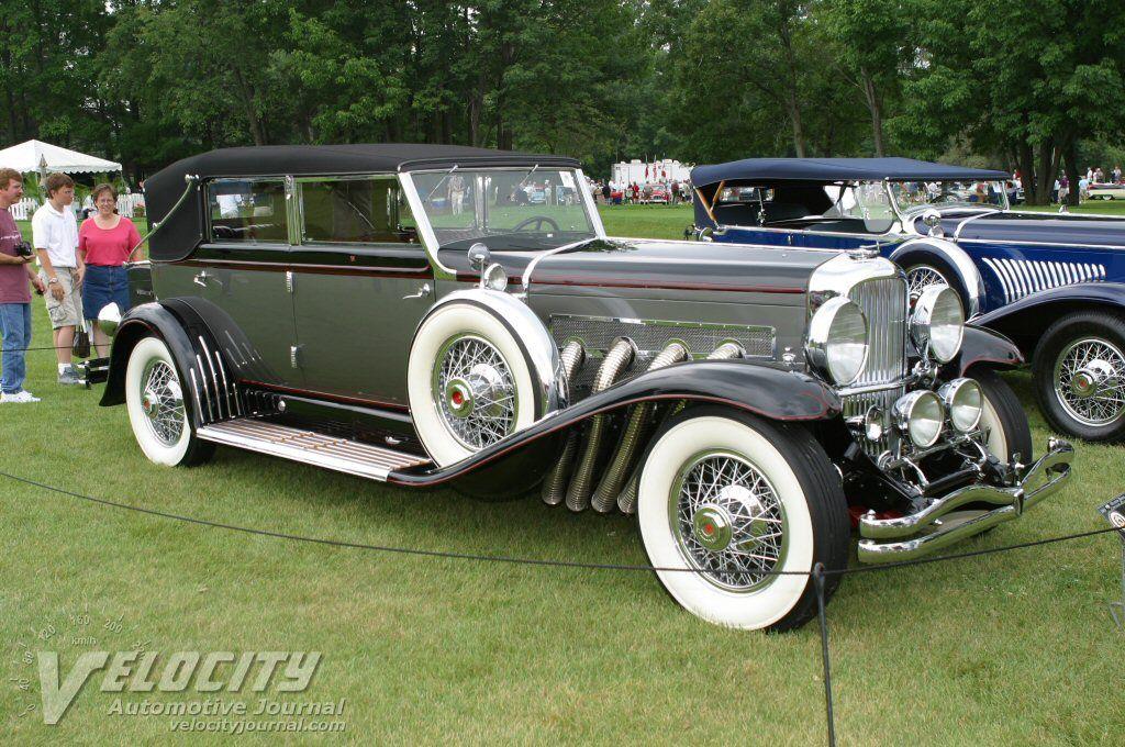 1929 Duesenberg Model J Lebaron Convertible Berline Vintage Cars