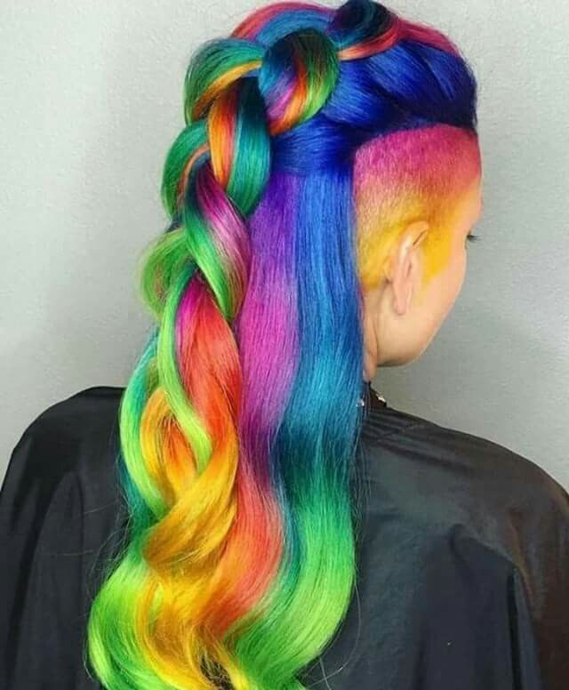 Omg the braid makes it look even cuter!   Funky hair ...