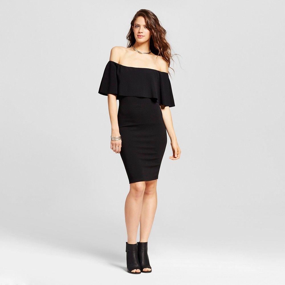 Women S Off The Shoulder Flounce Bodycon Dress Almost Famous Juniors Black Xl Bodycon Dress Dresses Flounce [ 1000 x 1000 Pixel ]