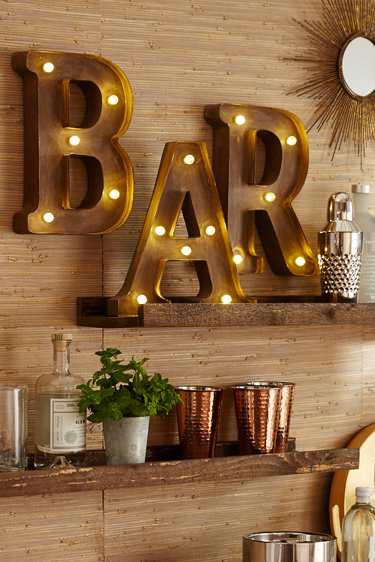 Pier 1's LEDequipped Marquee Wall Letters will help you