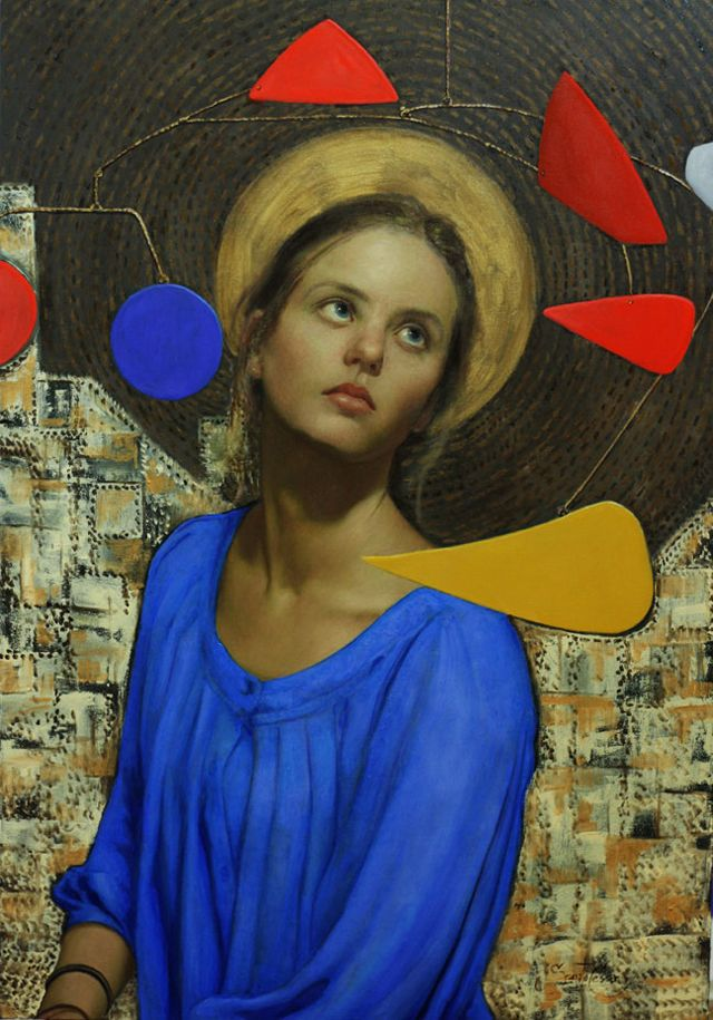 O artista cubano-americano Cesar Santos junta formas de arte complexas e divergentes em quadros individuais. - Arte sincretista - arte moderna - pintura.