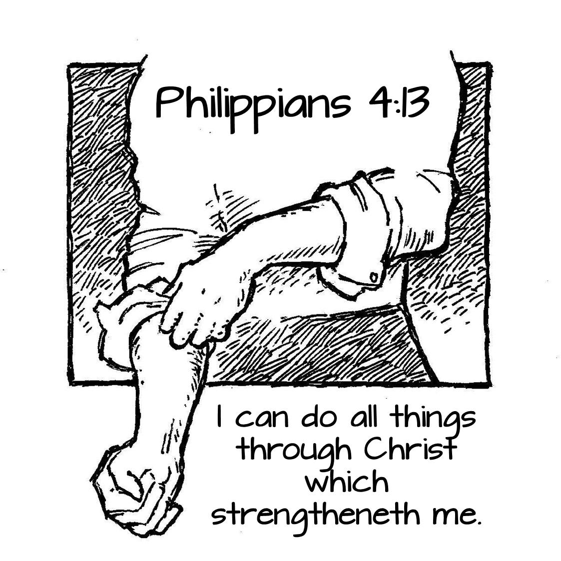 kjv bible verse coloring pages | Philippians 4:13 | Bible coloring pages, Coloring pages, Bible