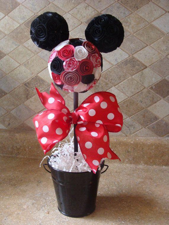 Mickey o minnie mouse topiary para fiesta de cumplea os o - Decoracion minnie cumpleanos ...
