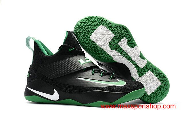 8b9bbccdbbddb9 2017 New Nike LeBron Ambassador 10 Black Green Men s Basketball Shoes  82.00