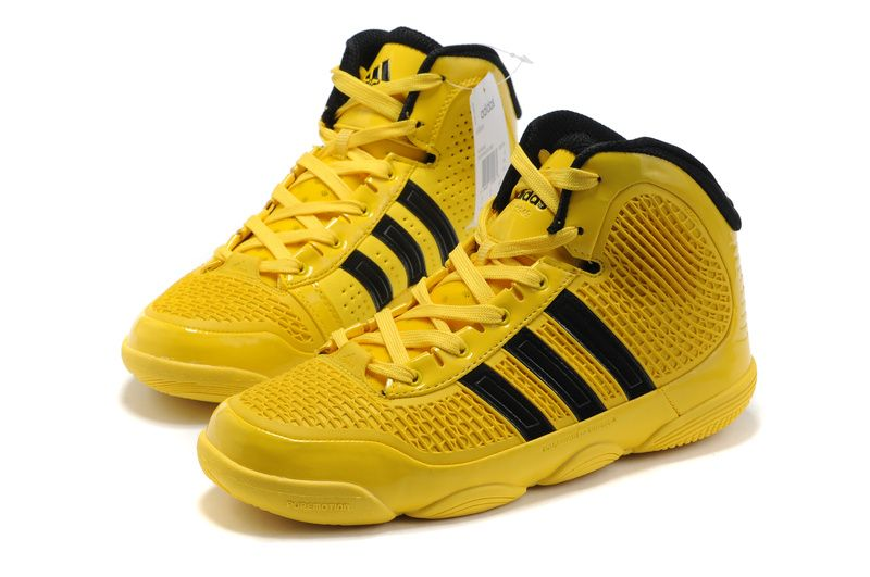 4d37b729637 Adidas adiPure Basketball Shoes Yellow Black  Shoes 21037 ...