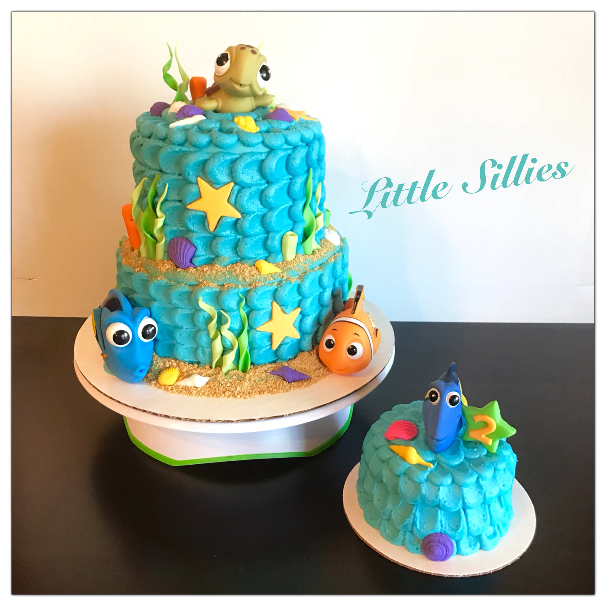 A Finding Dory Themed Cake And Smash Cake