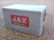 RARE VINTAGE ALUMINUM JAX BEER COOLER ICE CHEST 1950's