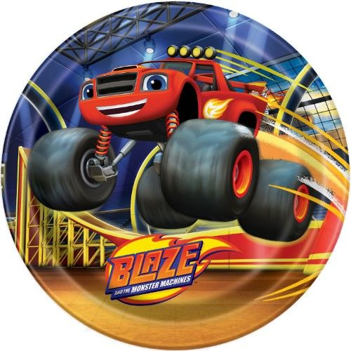 Blaze And The Monster Machines Dinner Plates Round 9 8 Ct Blaze And The Monster Machines Party Party Supplies Tableware Discount Party Supplies