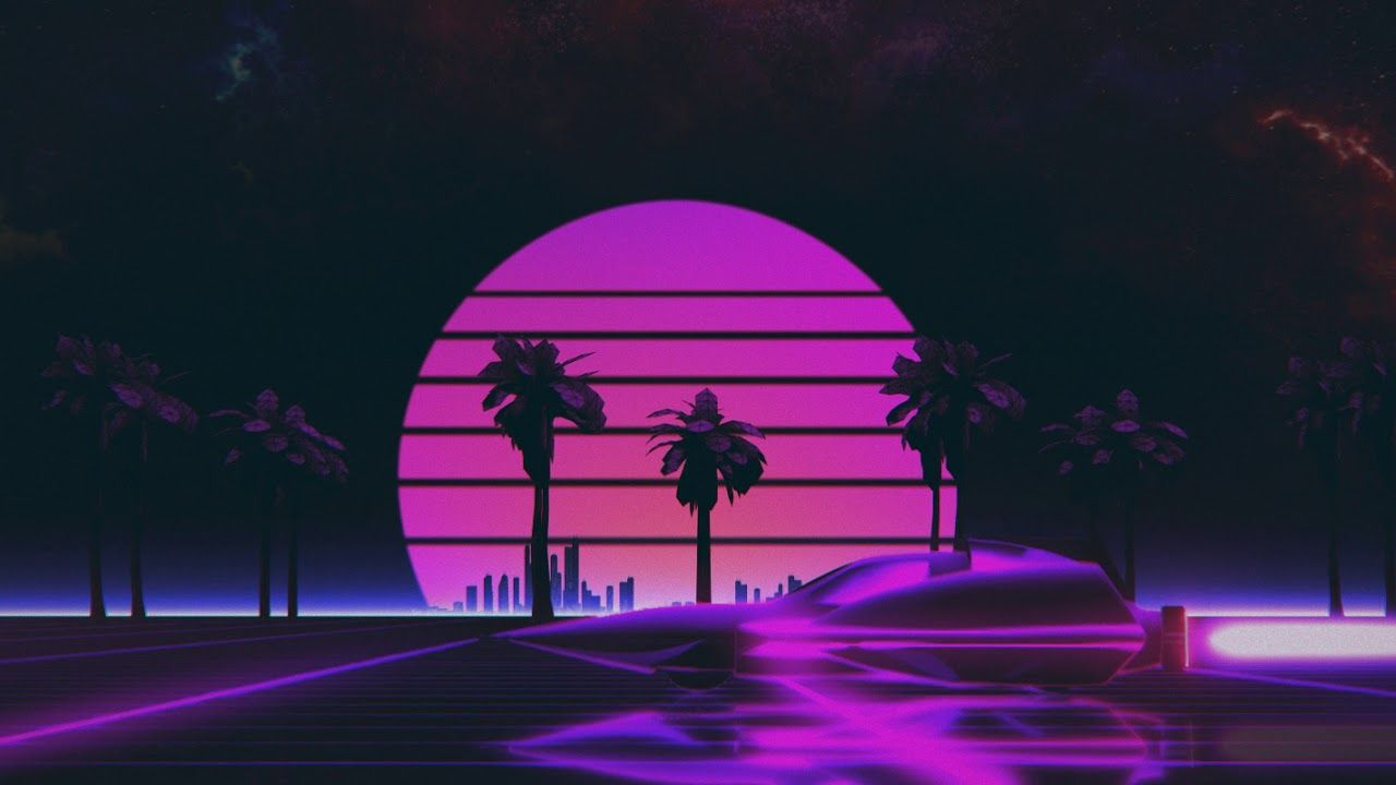 Made This Neon High Speed Sunset Animation Feedback Is Welcome So I Can Make Them Better Outrun Moving Backgrounds Background Retro Waves