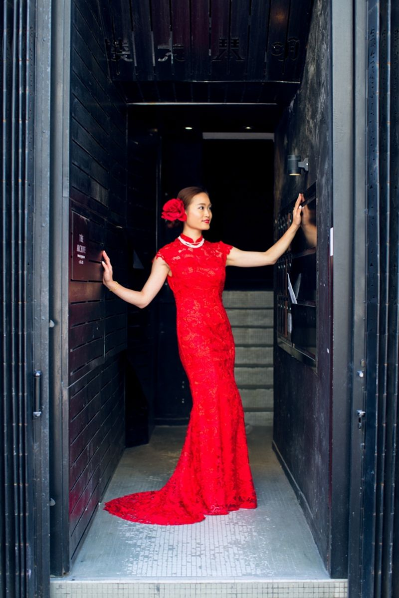 Mermaid Wedding Dress Lace With Train Red Lace Cheongsam Gown Lace Chinese Dress Wedding Dresses Lace Lace Mermaid Wedding Dress Dresses [ 1199 x 800 Pixel ]