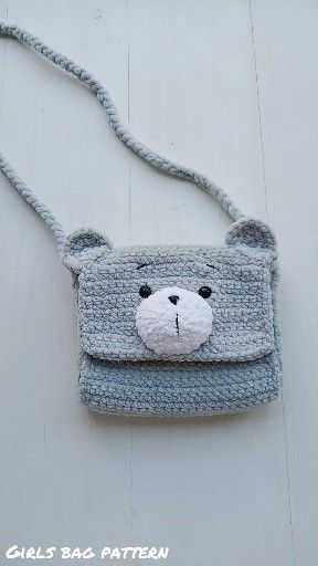 Girls Bag Pattern - Plush Hadbag - Animals Pattern - Crochet Teddy Bear Pattern