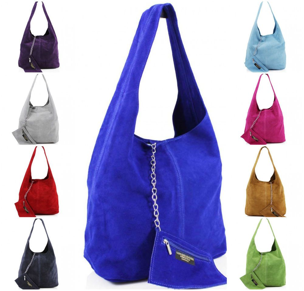 f52c2880f6fd Real Suede Leather Ladies Women Shoulder Soft Side Bag Girls School Party  Casual  Unbranded