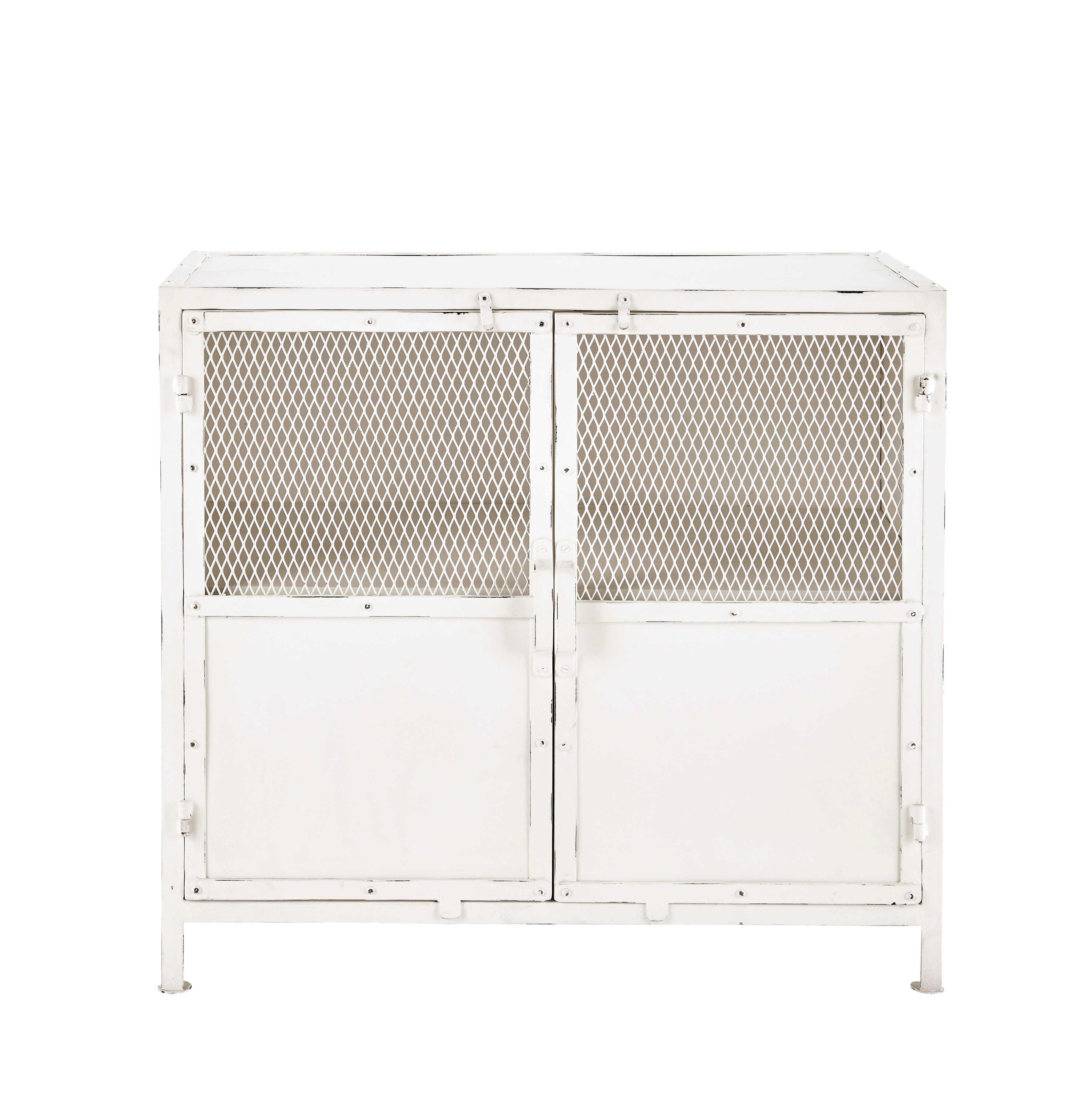 buffet en m tal blanc l 87 cm edison bureau pinterest bureau. Black Bedroom Furniture Sets. Home Design Ideas
