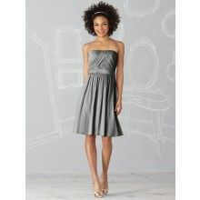 TYAD1155 Chiffon Strapless Charcoal Grey Evening Dresses ...