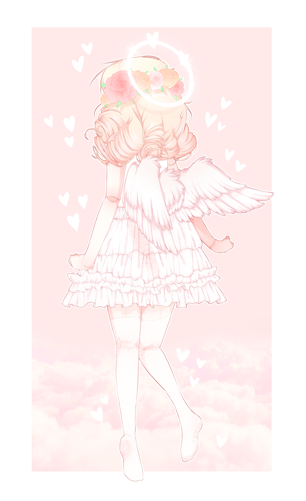 Yeagart Sweet Angel Angelic Aesthetic Cute Kawaii Girly Pink Soft Lovely Cute Anime Chibi Aesthetic Anime Anime Wallpaper