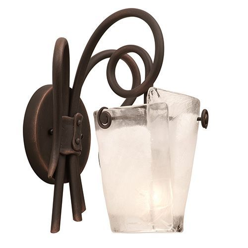 Photo of Kalco Lighting Tribeca Antique copper A light bathroom lamp 4281ac / Frost | Bellacor