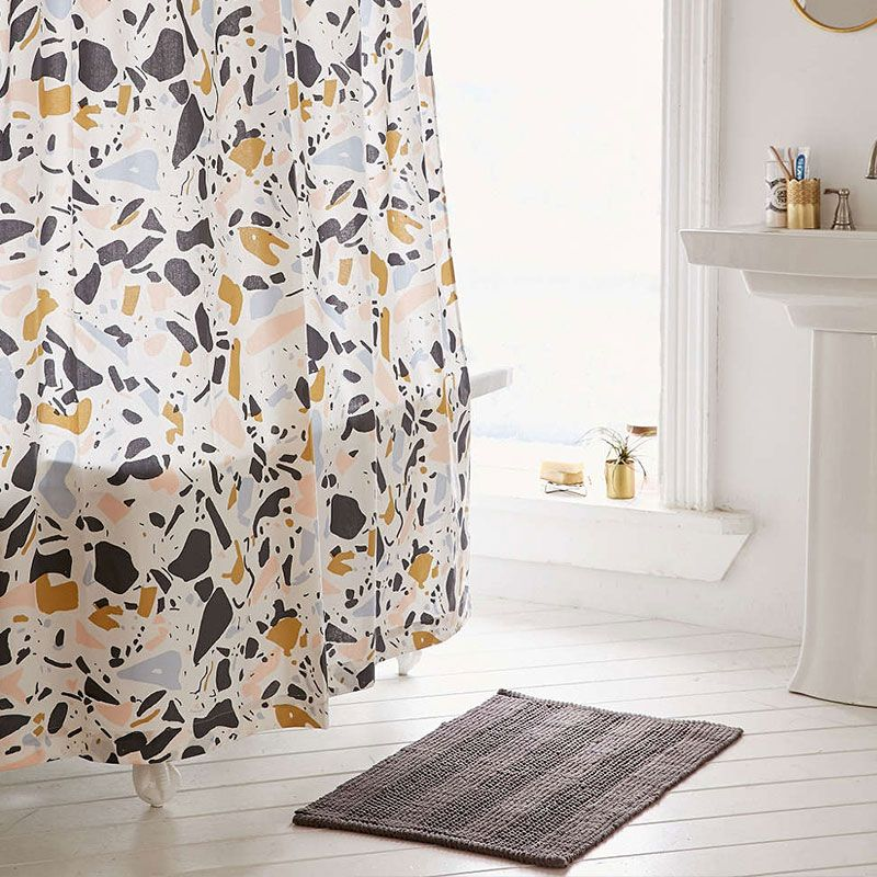 Playful And Colorful Shower Curtain For A Stylish Bathroom