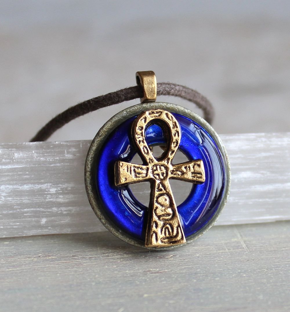 Royal blue ankh necklace ankh jewelry mens jewelry egyptian royal blue ankh necklace ankh jewelry mens jewelry egyptian necklace mens necklace aloadofball Images