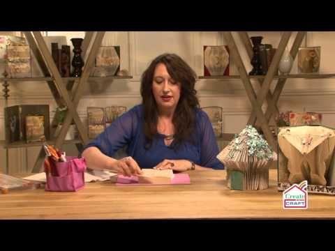 How to book fold. FOLD A FAIRY HOUSE. BOOK ART - YouTube