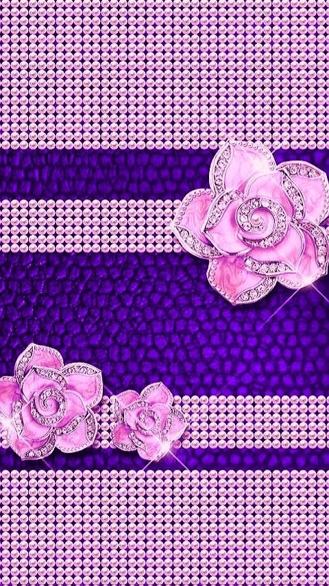 Images By Ashleigh Drake Boyer On Purple   Bling Wallpaper, Glittery Wallpaper, Flower Phone Wallpaper B77