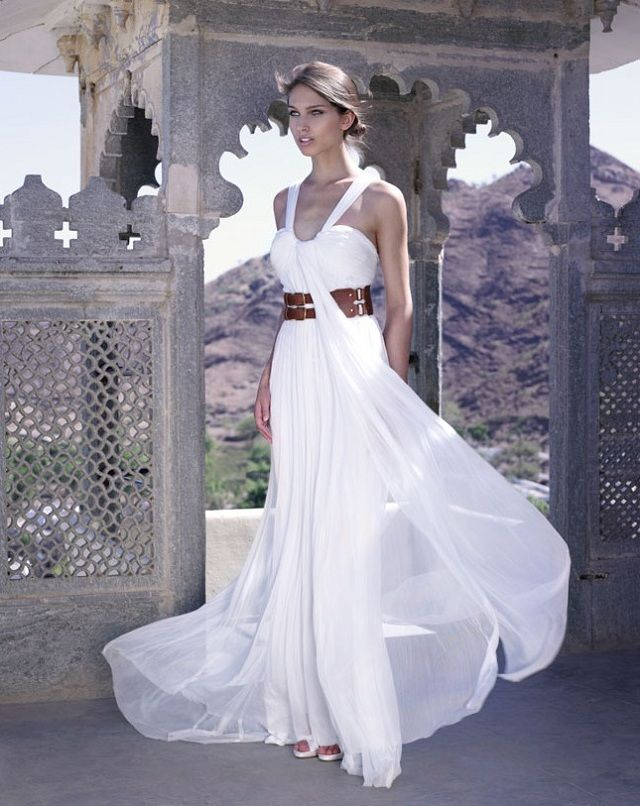 Amanda Wakeley Rahjastan Wedding Dress Collection Greek Style