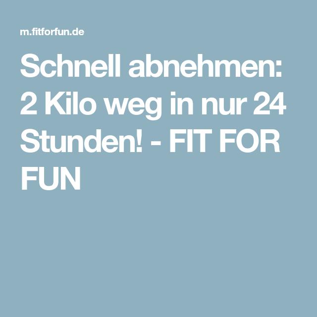 Schnell abnehmen: 2 Kilo weg in nur 24 Stunden! - FIT FOR FUN