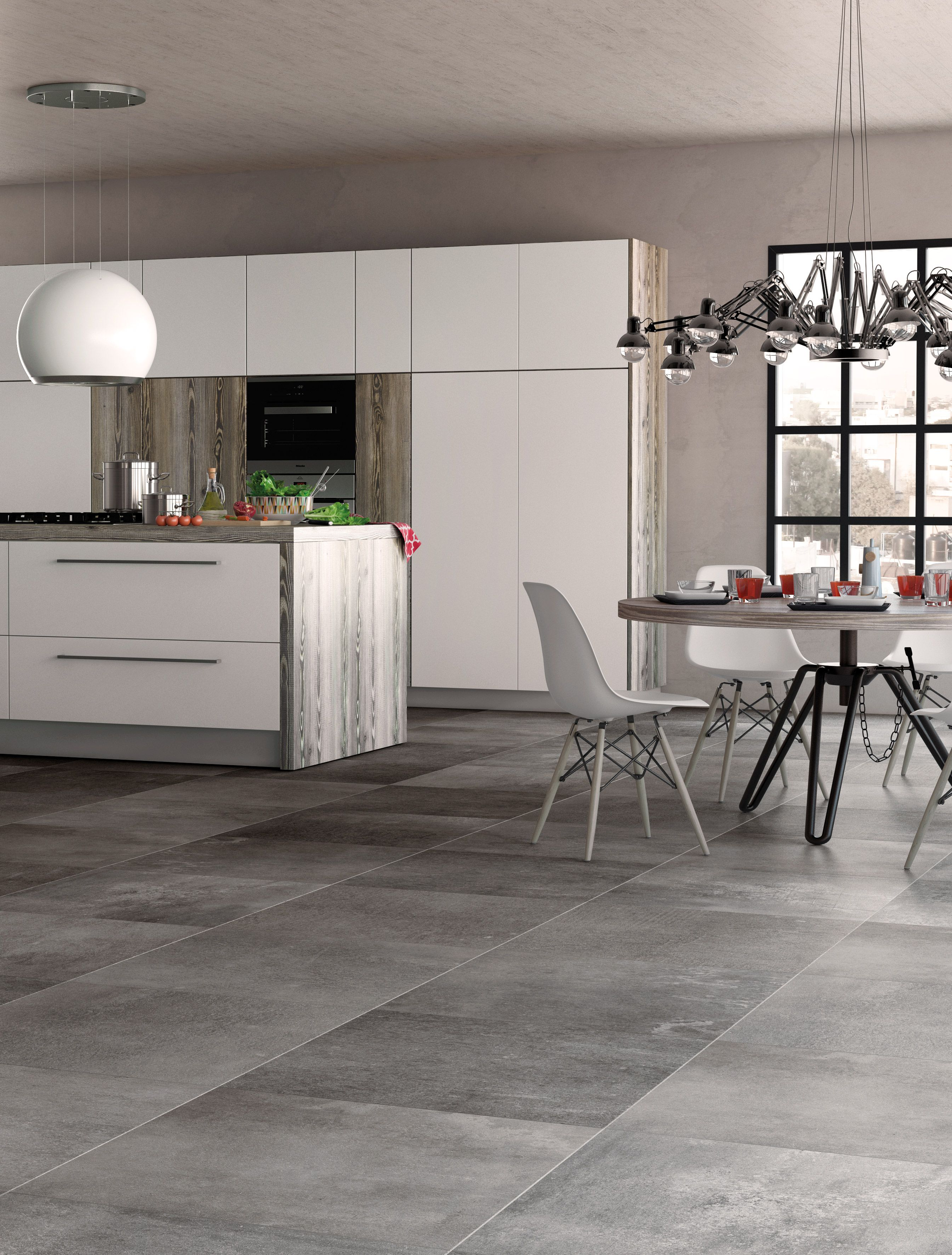 Create An Urban Escape At Home With The Cool Cement Grey Panache Floor Tiles House Flooring Modern Floor Tiles Tile Floor Living Room
