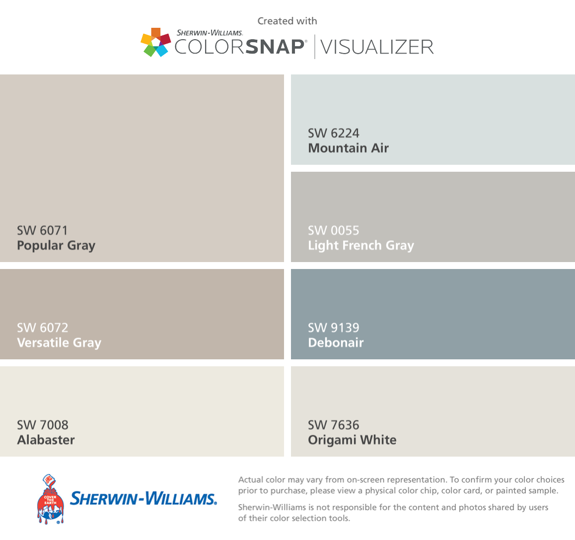 I Found These Colors With Colorsnap Visualizer For Iphone By Sherwin Williams Popular Gray Sw 6071 Versa Paint Colors For Home Agreeable Gray Paint Colors