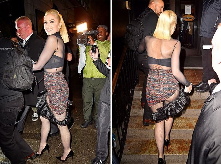 Check Out Gwen Stefanis Half-Assed Outfit For SNL After Party