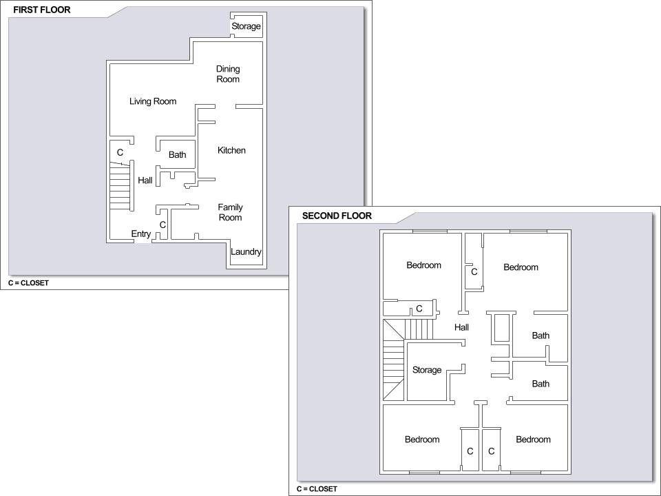 CFA Yokosuka – Building 4362: 4 bedroom townhome floor plan  | CFA