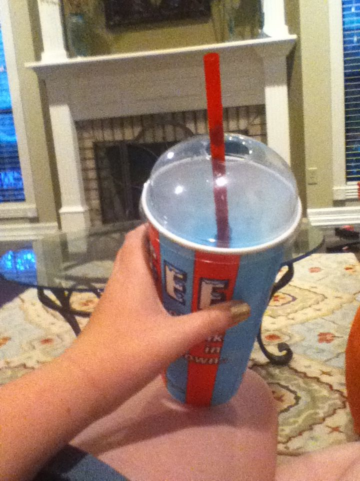 I got me an icee. One of my fav things in life )