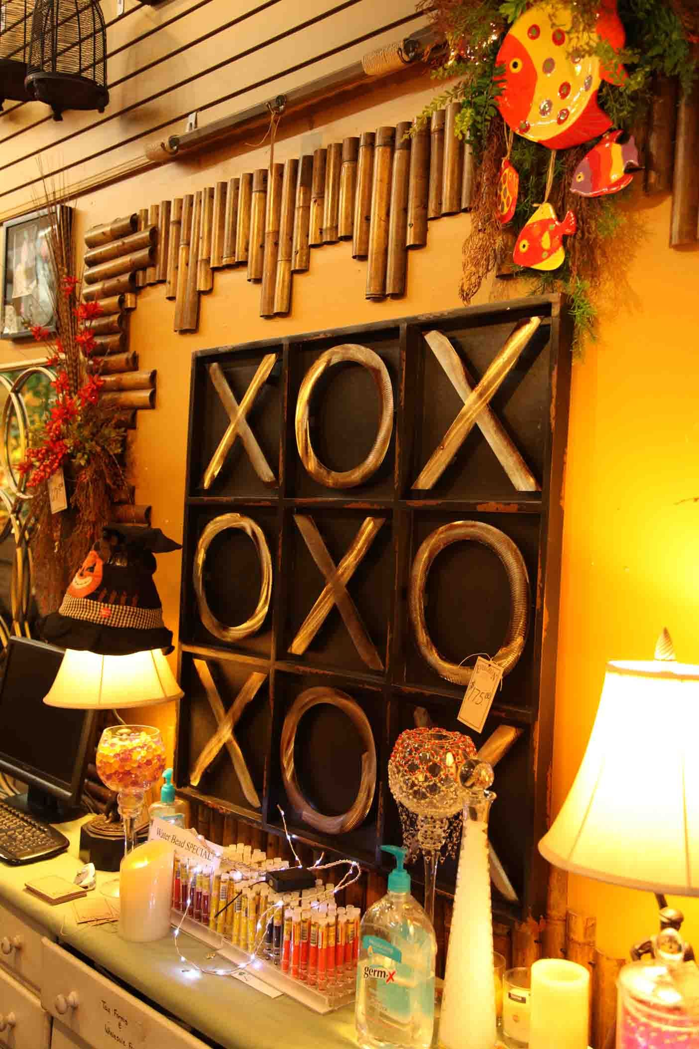 large tic tac toe wall art Evergreen at the Lake of the Ozarks