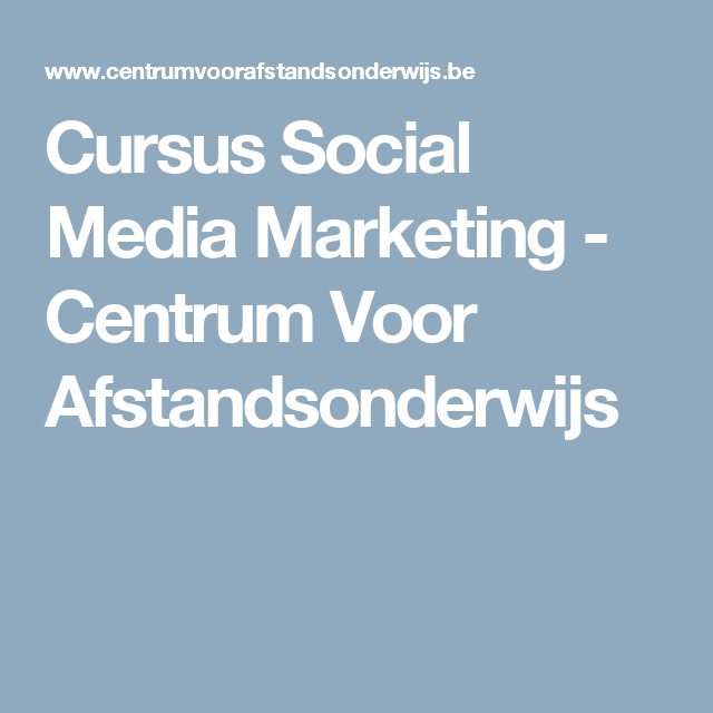 cursus marketing