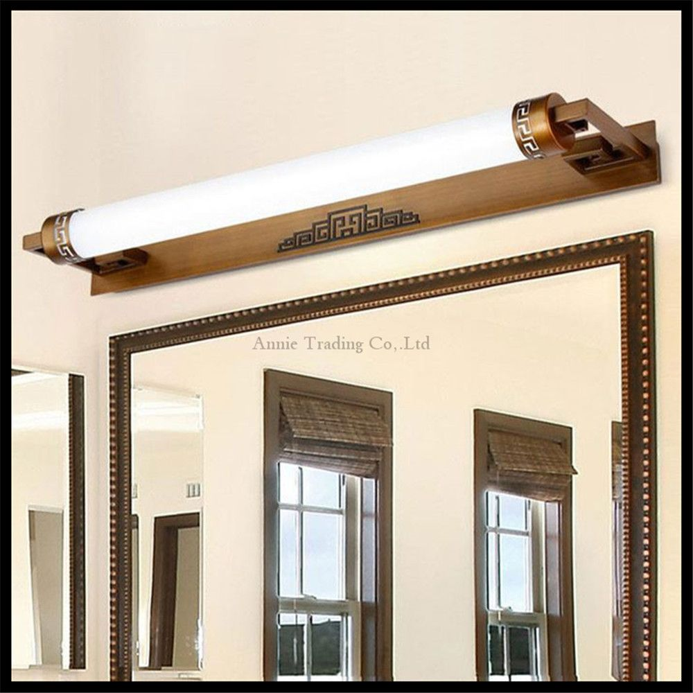 L47cm 67cm 87cm Chinese style led mirror front lamps bathroom mirror ...