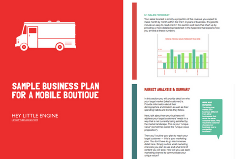 Sample Business Plan For A Mobile Boutique The Essential Guide To Planning A Fashion Truck Business Business Plan Template Mobile Boutique Business Planning