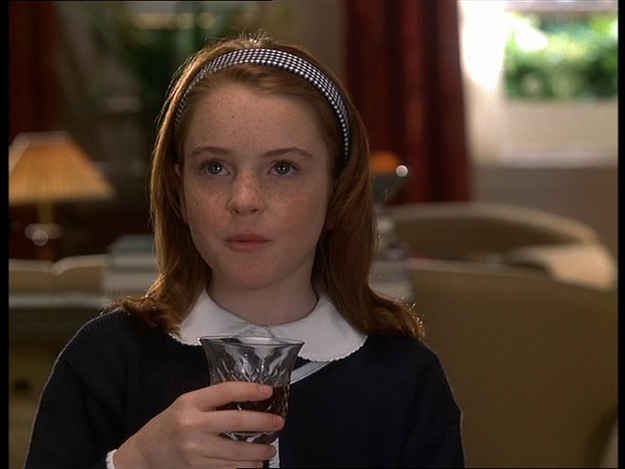 The Scene Where Hallie As Annie Takes A Sip Of Wine Is Also Edited Out When Shown On Disney Channel Parent Trap Parent Trap Movie Iconic 90s Movies
