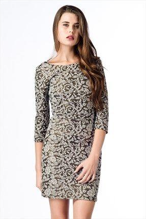 Koton Siyah Desenli Bayan Elbise 3kak86717ik 11f 40 Indirimle 59 99tl Ile Trendyol Da The Dress Moda Stilleri Elbise
