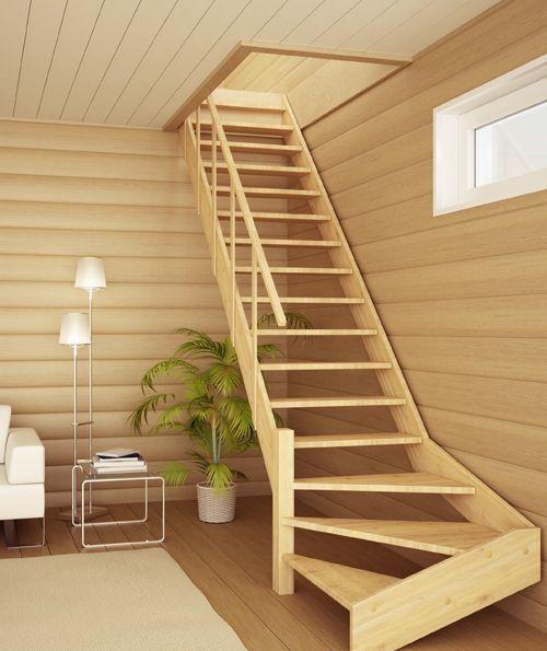 tetiva_07 Nápady do domu Pinterest Escalera, Escaleras - escaleras de madera rusticas