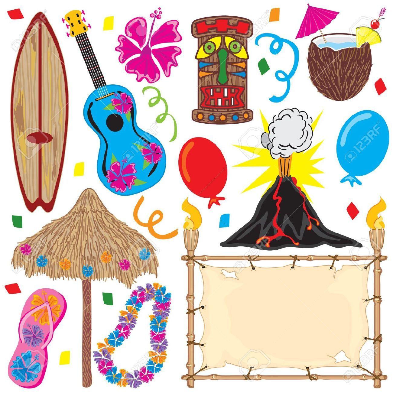 Convite festa havaiana pesquisa google ch de fraldas for Tiki hawaiano