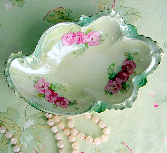 Antique Porcelain Picalilly Dish Pink