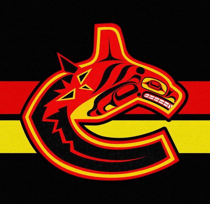Old school Vancouver Canucks logo as seen by Andy Everson 00c56186c