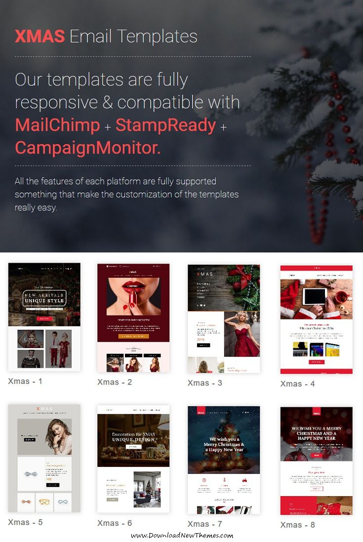 Xmas   Responsive Email Templates With Mailchimp Editor
