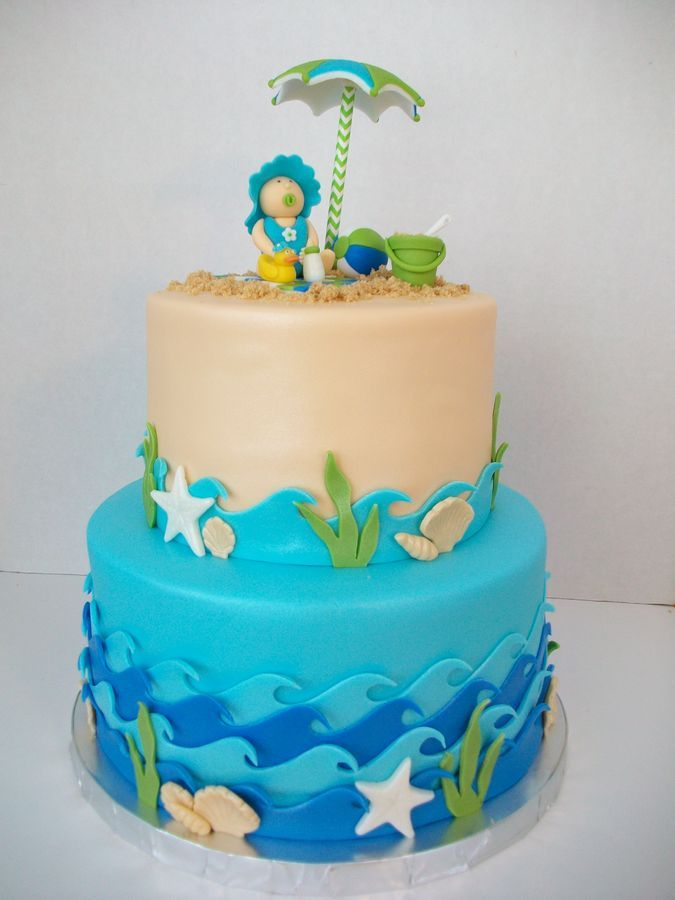 Beach Theme Baby Shower Cake